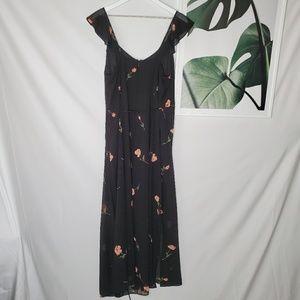 Ashley Graham Beyond Black Floral Maxi Dress 90s